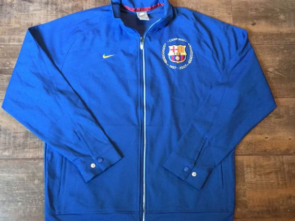 2007 Barcelona Players Track Top Large Camp Nou Football Shirt Camiseta